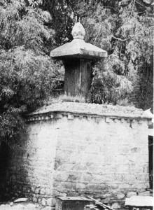图说:公元821至822年汉博条约(译注:中文又称《长庆会盟》)之石碑。