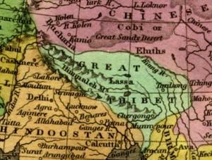 1827年地图的细部。