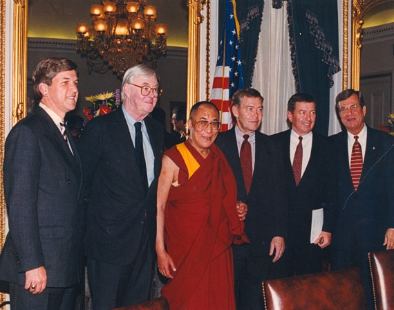 US Senators welcome His Holiness the Dalai Lama, 1996